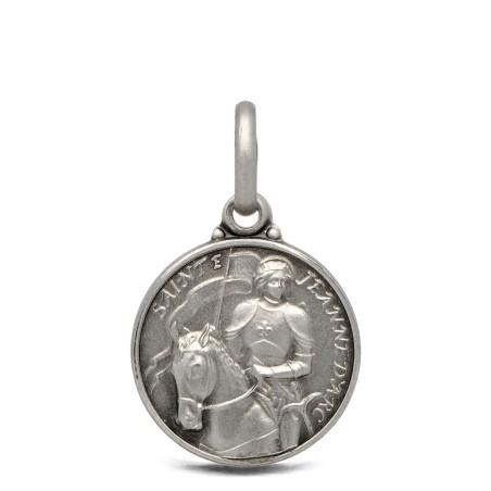Św Joanna d'Arc- medalik ze srebra 14mm, 1,9 g
