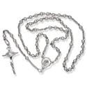 Różaniec srebrny błyszczący. Różaniec wykonany ze srebra. Gold Urbanowicz 7,6g