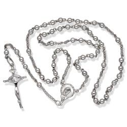 Różaniec srebrny błyszczący. Różaniec wykonany ze srebra. Gold Urbanowicz 7,6g.