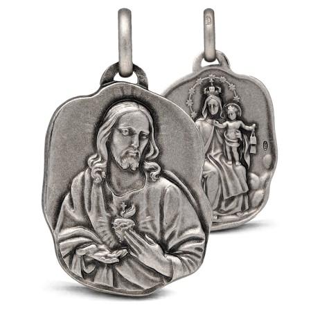 Medalion srebrny- Szkaplerz Karmelitański. 8,9g