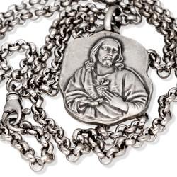 Srebrny komplet. Łańcuszek 50 cm + medalik Szkaplerz karmelitański Gold Urbanowicz