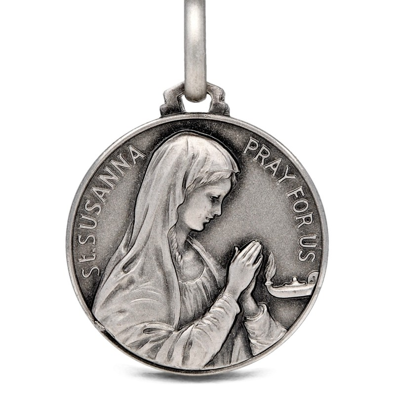 Gold Urbanowicz, Święta Zuzanna Rzymska, medalik srebrny, 21mm, 4,75 g