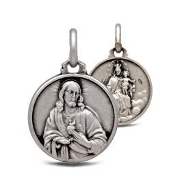 Medalion dwustronny. Szkaplerz Karmelitański. 2.8 g Medalik ze srebra oksydowanego. Gold Urbanowicz