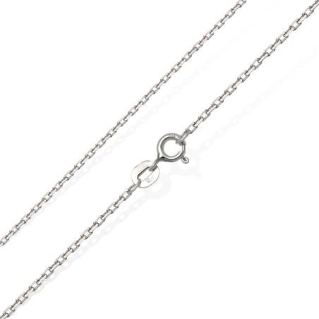 Efektowny łańcuszek srebrny 50 cm 2 g