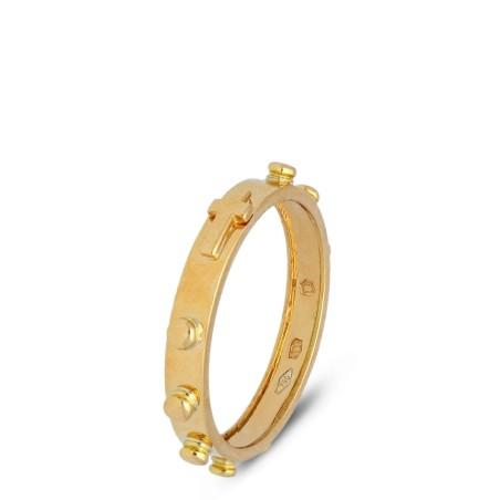 Złota obrączka różańcowa, 18K, 3,7g