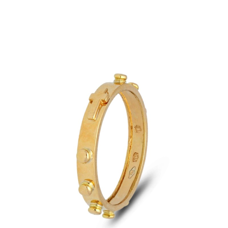 Gold Urbanowicz- obrączka różańcowa ze złota 18K