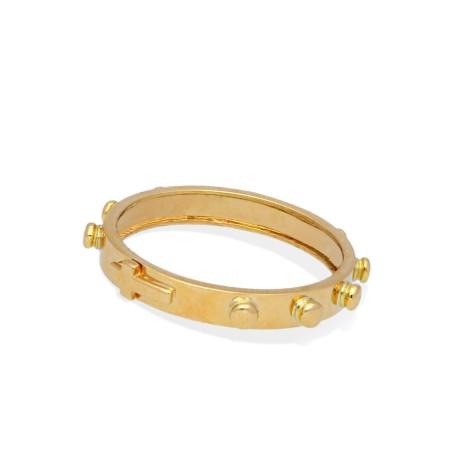 Różaniec na palec-obrączka złota 18K, 3,75g