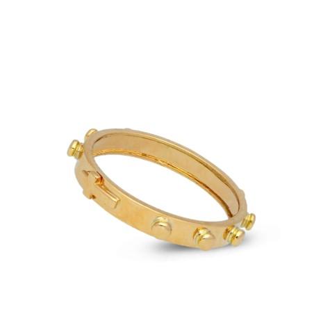Złoty różaniec na palec. 18K, 3,9g