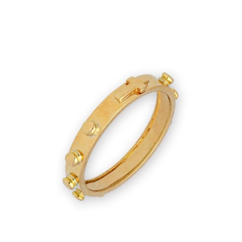 Złota obrączka różańcowa. Gold Urbanowicz sklep z dewocjonaliami.