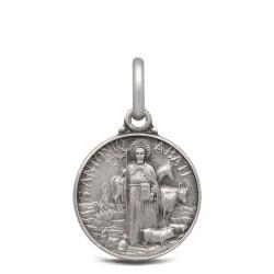 Święty Antoni Abate- medalik srebrny, 14mm 1,8g