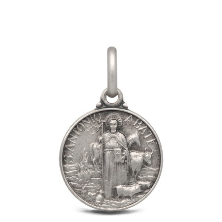 Św Antoni Abate - medalik srebrny 14mm 1,8g