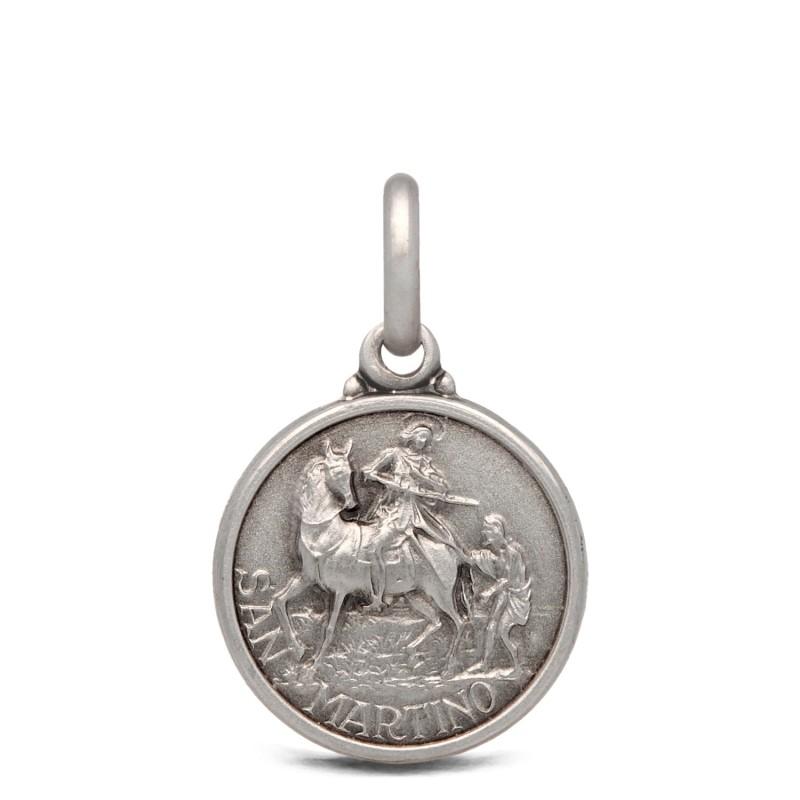 Medalik srebrny św Marcina, 14mm 1,9g