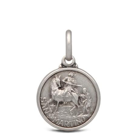 Święty Marcin- medalik srebrny 14mm 1,9g