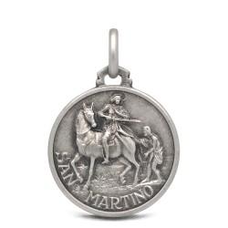 Medalik srebrny św Marcina, 18mm 3,2g