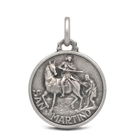 Medalik srebrny ze świętym Marcinem, 18mm 3,2g