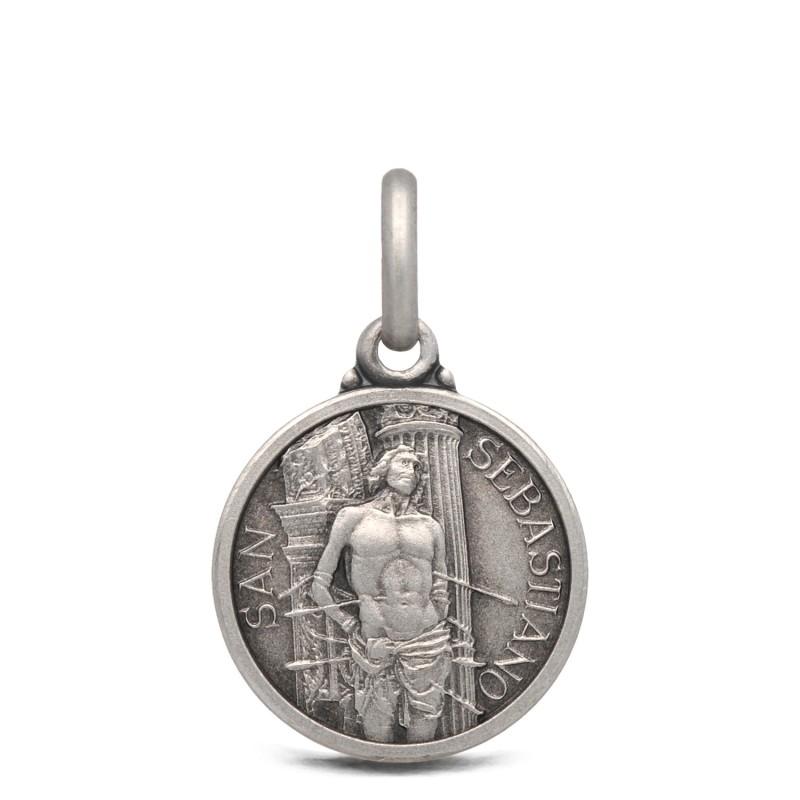Medalik srebrny ze świętym Sebastianem- 14mm 1,9g