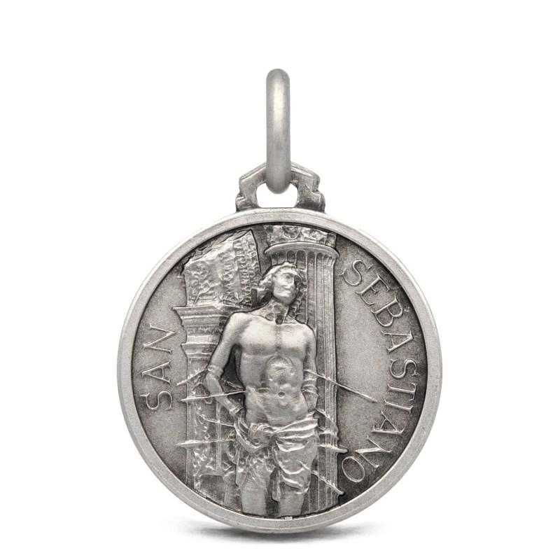 Medalik srebrny ze świętym Sebastianem- 18mm 3,15g