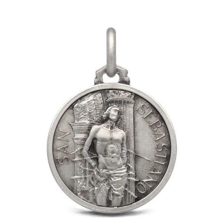 Medalik srebrny Świętego Sebastiana - 18mm 3,15g