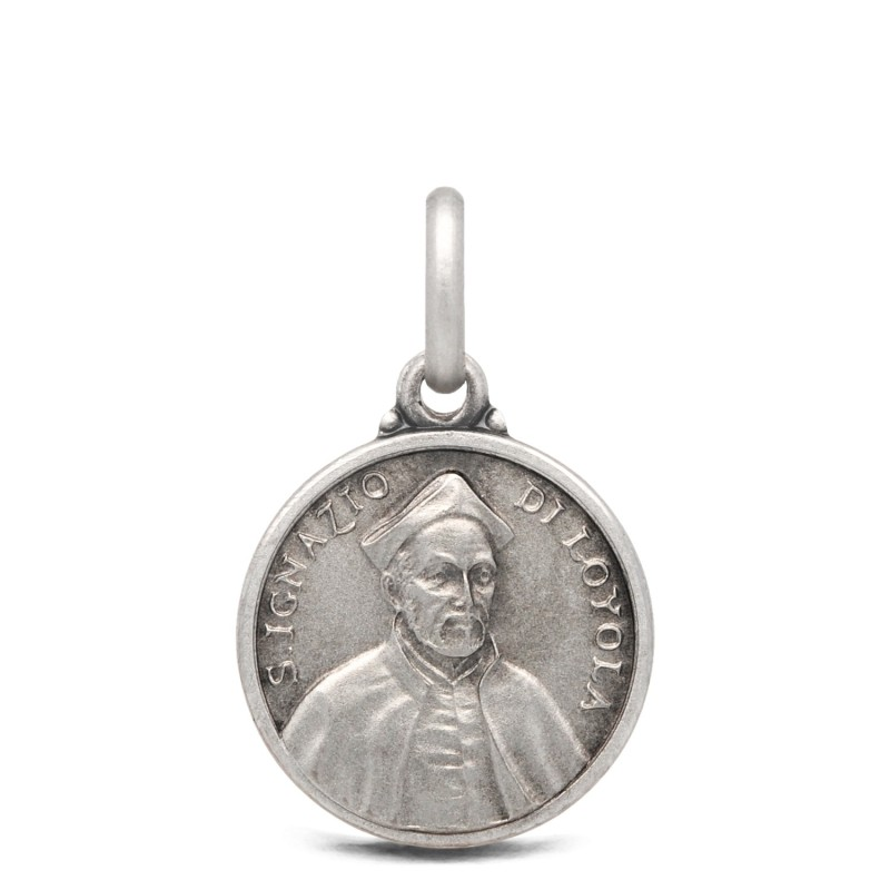 Święty Ignacy Loyola- medalik srebrny 14mm 1,9g