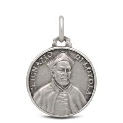 Święty Ignacy Loyola- medalik ze srebra 18mm 3,15g