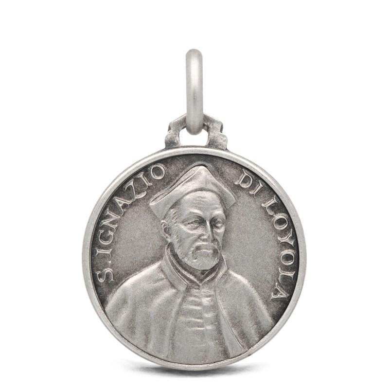 Święty Ignacy Loyola- medalik ze srebra 18mm 3,25g