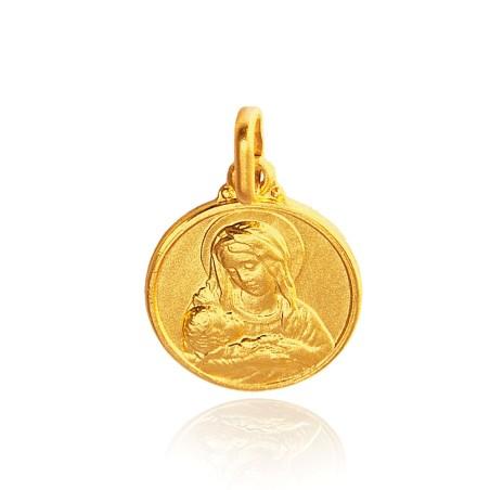 Matka Bożej Opatrzności. Złoty medalik. 12 mm 1,6 g