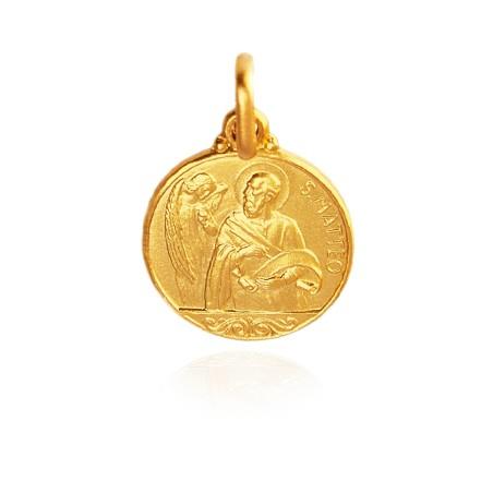 Święty Mateusz. Złoty medalik. 21 mm. 5,5 g