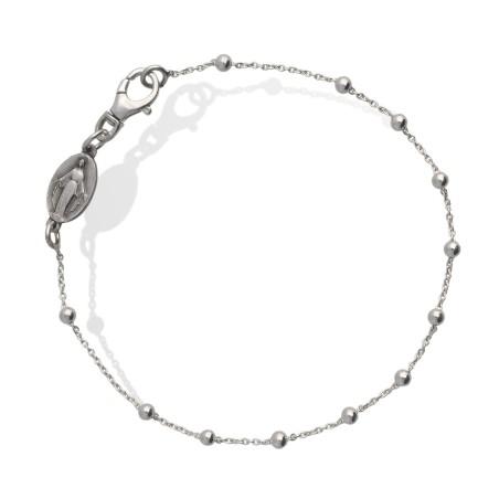Bransoletka srebrna z Matką Bożą Niepokalaną 2,4 g