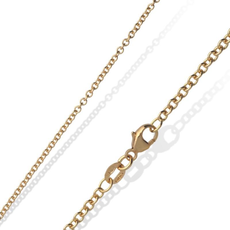 Złoty łańcuszek, 18K, 50 cm 8,1 g
