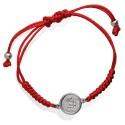Bransoletka z medalikiem Angels- czerwony sznureczek