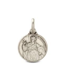 Święta Barbara. srebrny medalik oksydowany. Medalik św Barbary. 21mm Gold Urbanowicz