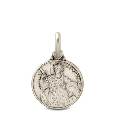 Święta Barbara, medalion srebrny, 21mm, 4,7 g