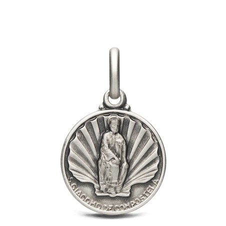 Święty Jakub, medalik srebrny, 14 mm 2,0 g