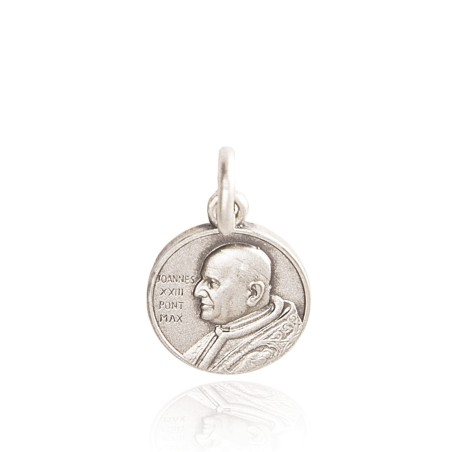 Święty Jan XXIII. Medalik srebrny. 18 mm, 3,0 g