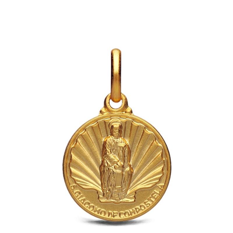 Święty Jakub, medalik złoty, 14 mm 2,3 g
