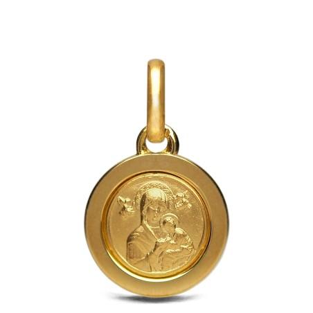 Złoty medalik. Matka Boża Nieustającej Pomocy. 750, 14 mm, 3,8 g