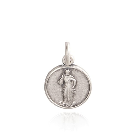 Medalion srebrny Jezusa Miłosiernego, 21 mm 4,95 g