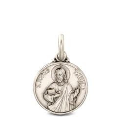 Święty Tadeusz Juda. Medalik ze srebra oksydowanego. 16 mm, Medalik Judy Tadeusza. Gold Urbanowicz