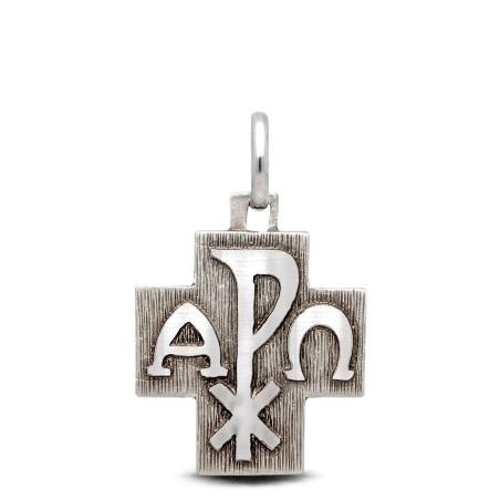 Srebrny krzyż  Α i Ω i Px.  6,45 g