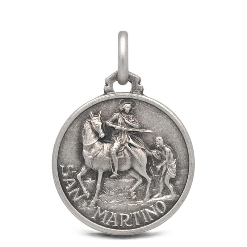 Medalik srebrny św Marcina, 21mm 4,5g