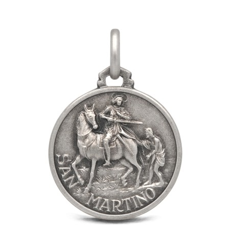 Medalik srebrny, Święty Marcin  21mm 4,5g