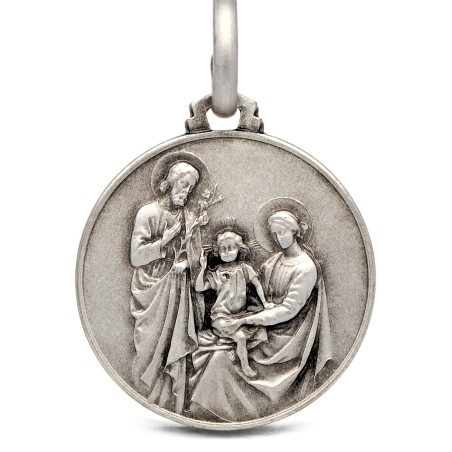 Srebrny medalion Rodzina Święta 25 mm 7,4 g
