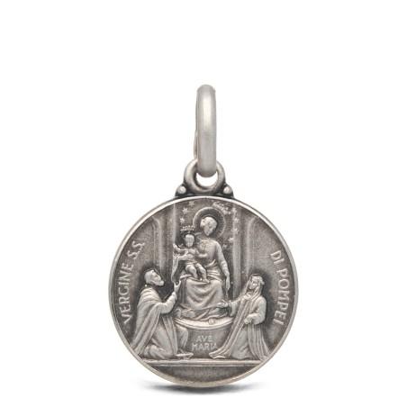Medalik srebrny- Matka Boża Pompejańska, 21mm, 4,6 g
