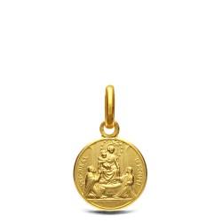 Matka Boża Pompejańska, Malutki złoty medalik, 10mm, 1,0 g