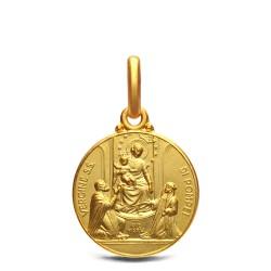 Złoty medalik- Matka Boża Pompejańska, 14mm, 2,15 g
