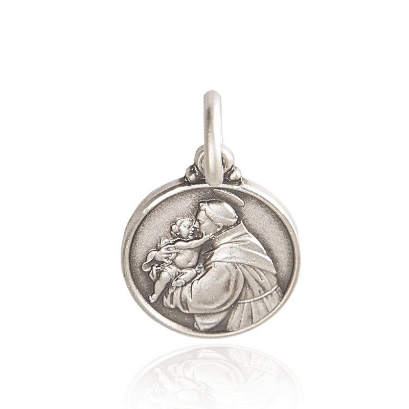 Święty Antoni. medalion srebrny, 21mm, Gold Urbanowicz