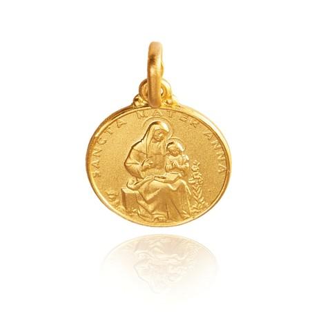 Święta Anna, Złoty medalik, 21 mm, ok 6 g