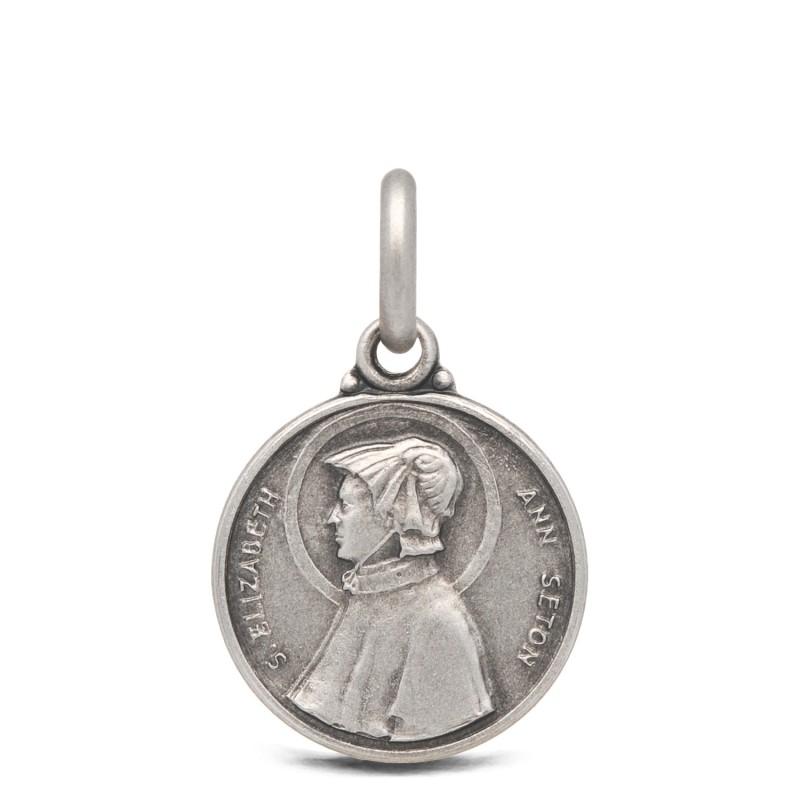 Gold Urbanowicz- shop online- Medalik srebrny Św Elisabeth Ann Seton, 18mm