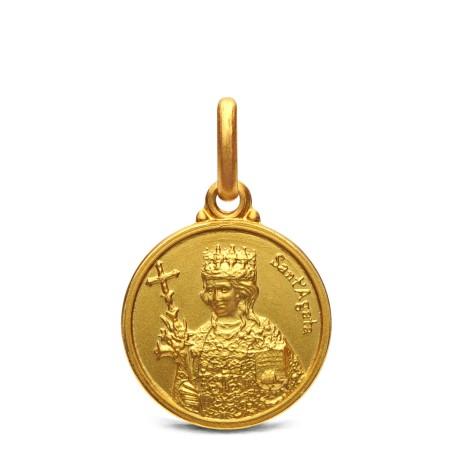 Medalik złoty św Agaty, 14mm, 2,2 g