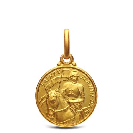 Św Joanna d'Arc- medalik złoty, 14mm, 2,1 g